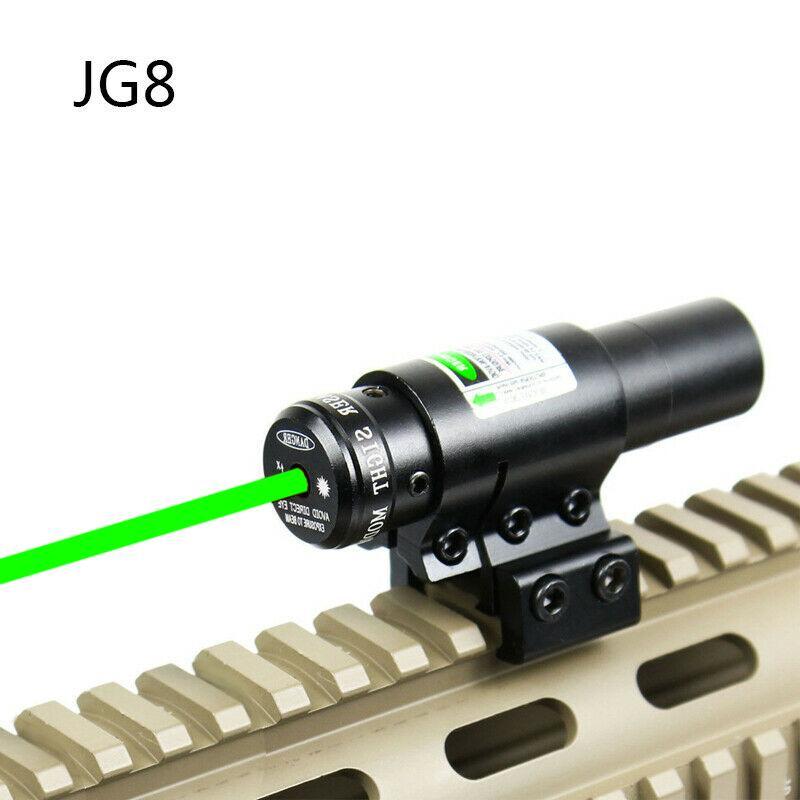 HQ JG-8 전술 소총 적색 / 녹색 점 레이저 시력 에어건 권총 야외 훈련 CQB 물 총알 총 20mm 레일 마운트 무료