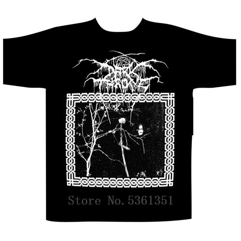 Darkthrone Altında Bir Cenaze Ay Tişörtlü M Ölümsüz Ulver Enslaved Satyricon Erkekler'S Yüksek Kaliteli Özel Hipster Baskılı Tee Tops