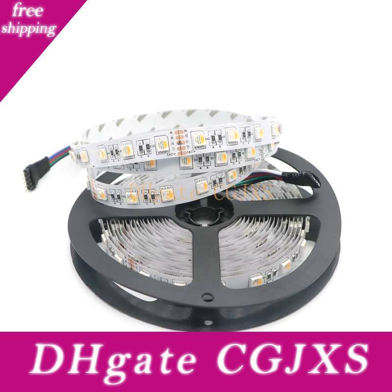 5m SMD 5050 Rgbw 4 colori in 1 LED DC24V RGB / RGB bianco caldo Striscia non -Waterproof Led