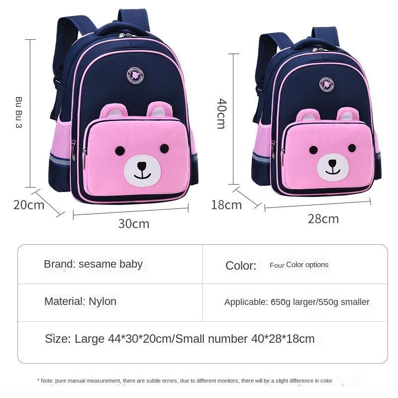 d6IYJ New cute Cartoon-Schulranzen für Grundschüler 1-3-6 Klasse Tasche Schutz Rucksack Jungen und Mädchen Rucksack leichte Lasten-