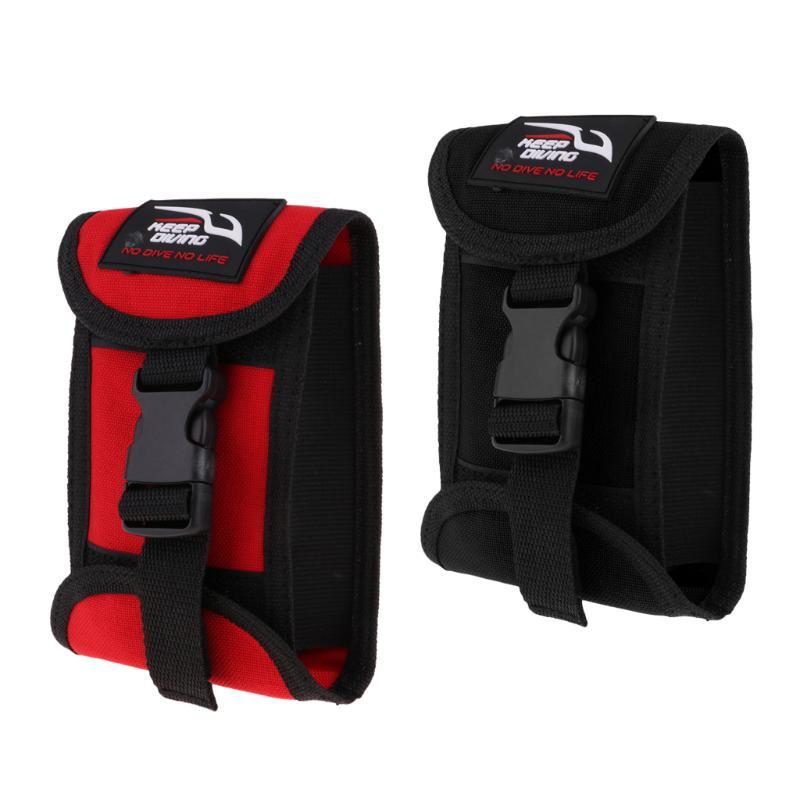 Replacement Scuba Dive Weight Belt Pocket Pouch with Quick Release Buckle - 16 x 11 cm / 6.3 x 4.3 inch - Colors Choice