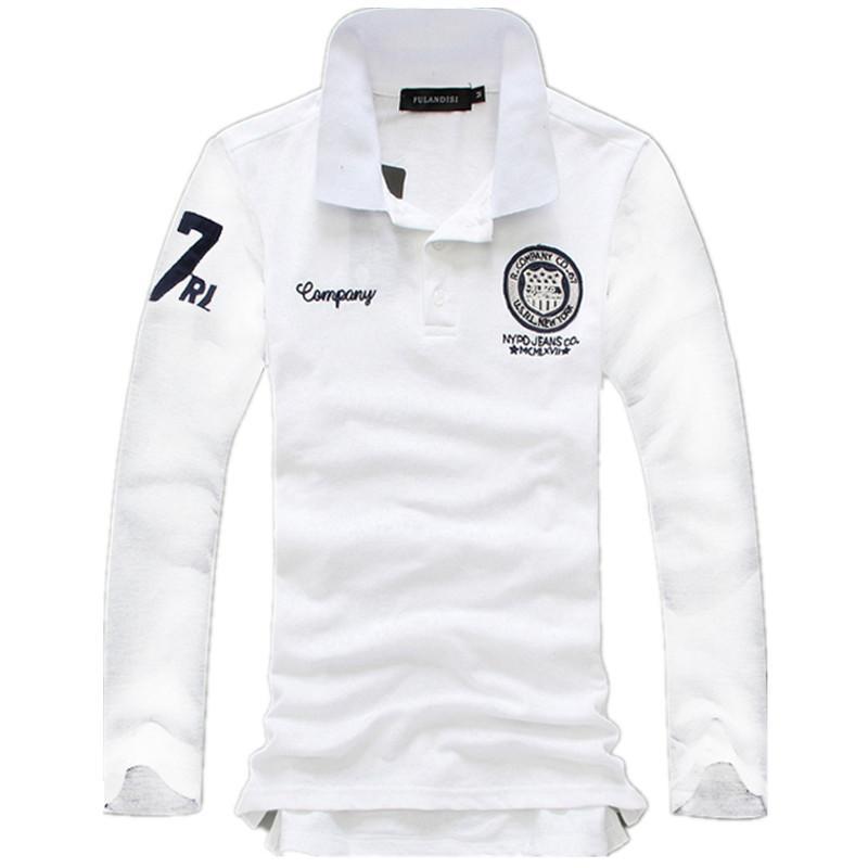 대형 사이즈 5XL 봄 가을 남자의 긴 소매 폴로 셔츠 멀티 컬러 선택면 패션 캐주얼 자수 남성 폴로 셔츠 LY191203
