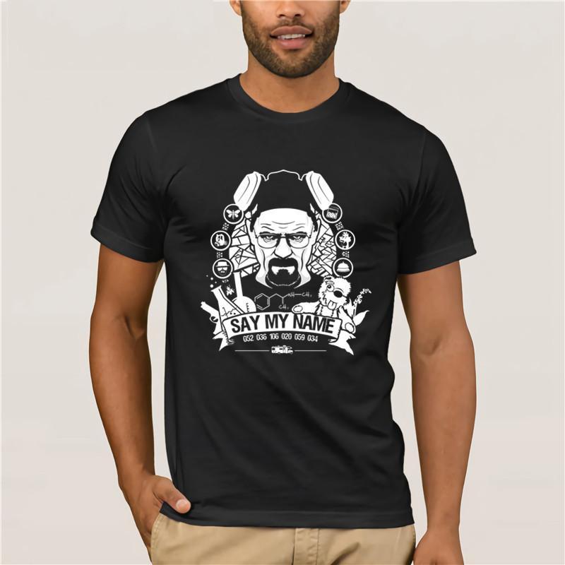 Новый летний мужская Повседневная печать футболка Короткие мод для мужчин Say My Name Футболка тенниски мужчины