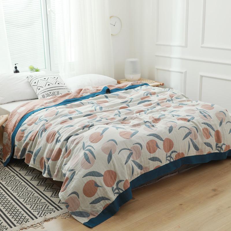 Enfants Adultes Cotton Gauze Muslin Blanket Voyage Avion Accueil Doux été Nap Throw Couvre-lit Sofa ou lit Goutte Panier