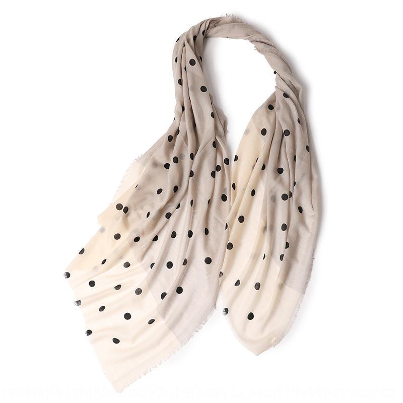 2020 Inner Mongolia Jinna Warm scarf shawl cashmere new women's polka dot fine wool warm scarf shawl