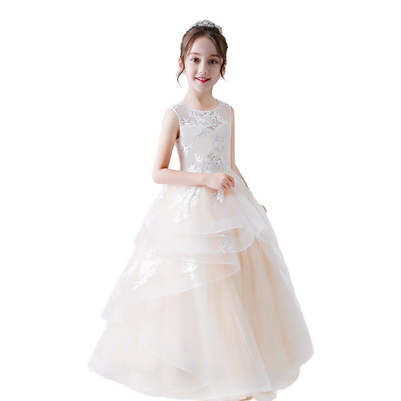 Vestige comunion 2020 Vintage Beyaz Birinci Basit Communion Elbise Kız ucuz Çiçek Kız Elbise Düğün İçin