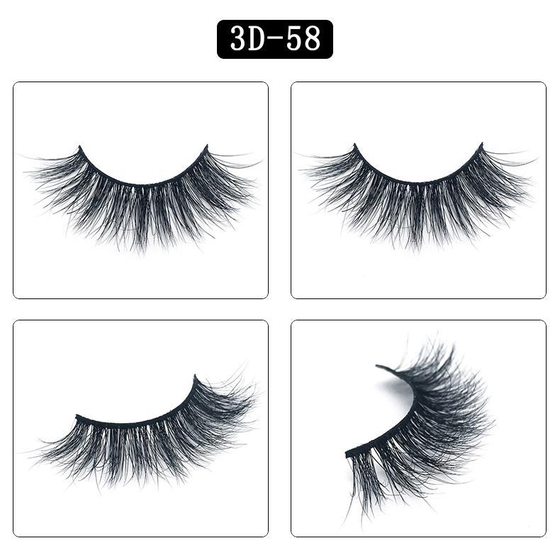Mink pestañas de pelo grande 3D 25 estilos 100 Real 3D Mink pestañas falsas 25 mm de visón 5d largas pestañas y pestañas gruesas caja de la belleza Herramientas Naturales