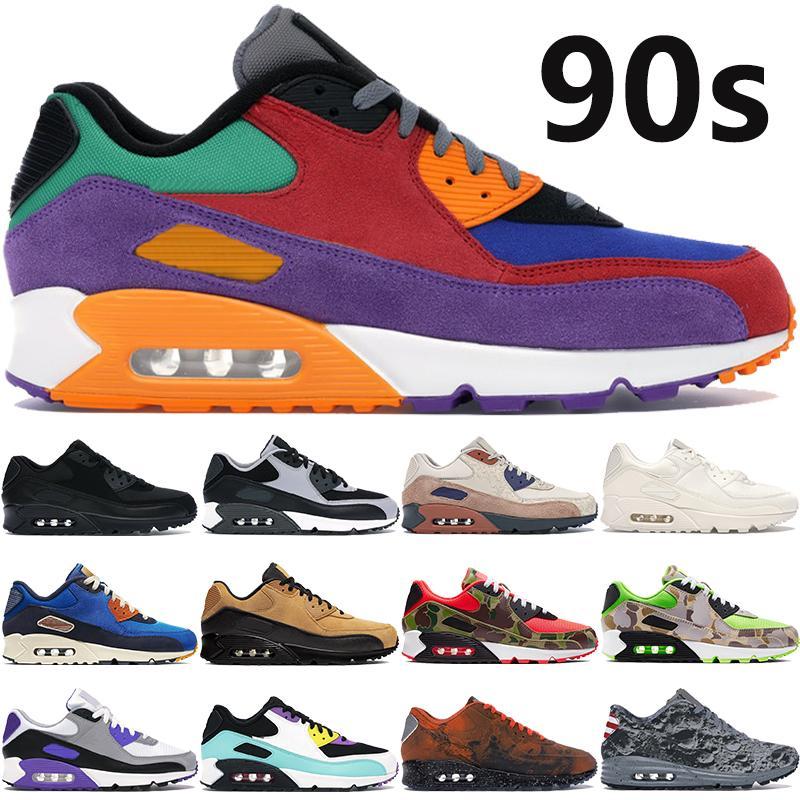 2020 new 90s men women running shoes university red Hyper Grape OG reverse duck camo Hyper Grape triple black white maxes cushion sneakers