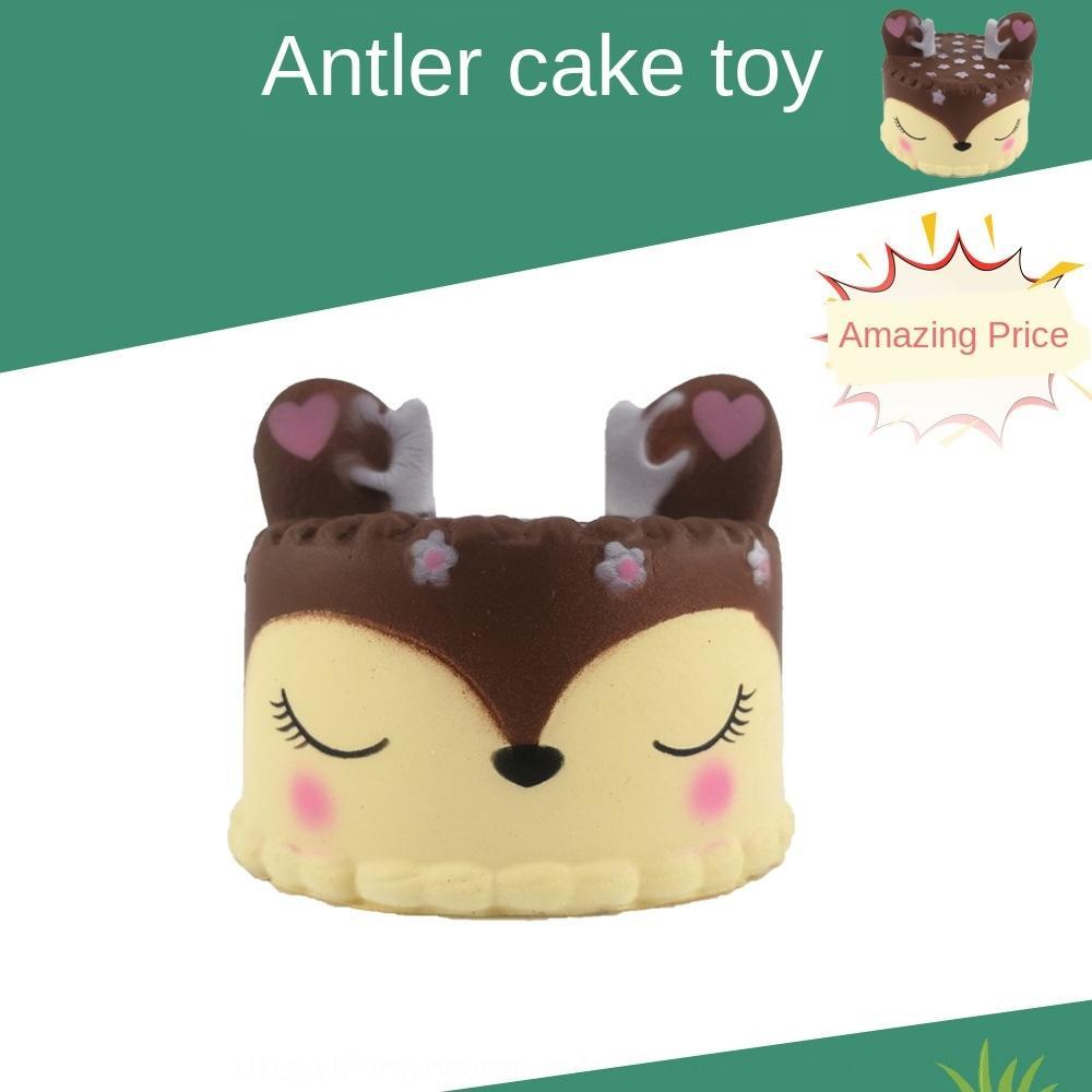 Hucxu 2019 Новый PU игрушка болотистый cakeBread cakeoversized Антлер торт 2019 Новый PU медленный отскок игрушка болотистый медленный отскок моделирования Simulation ча