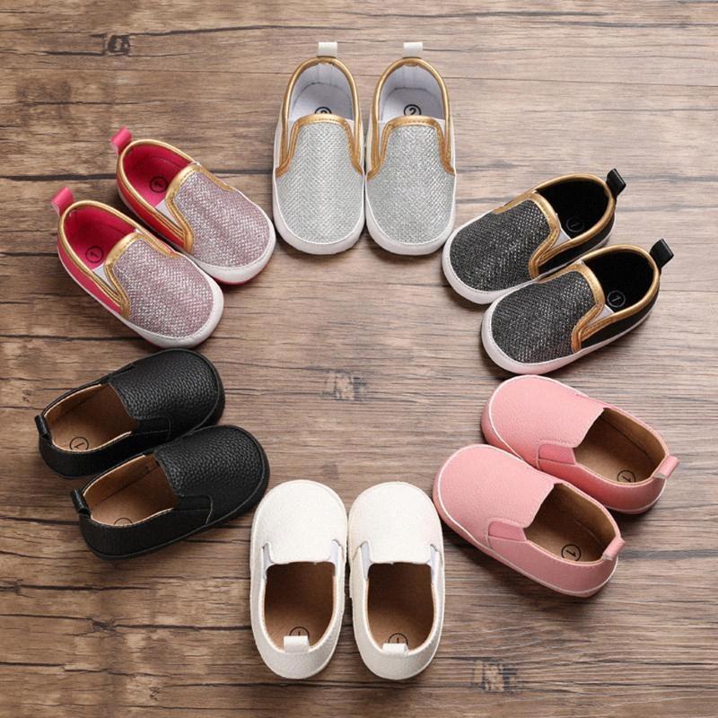 Kleinkind-Kind-Kind-Baby-Paillette Lederschuhe Erste Wanderer Schuhe Kleinkind Erste Wanderer Babyschuhe Mädchen 5vSo #