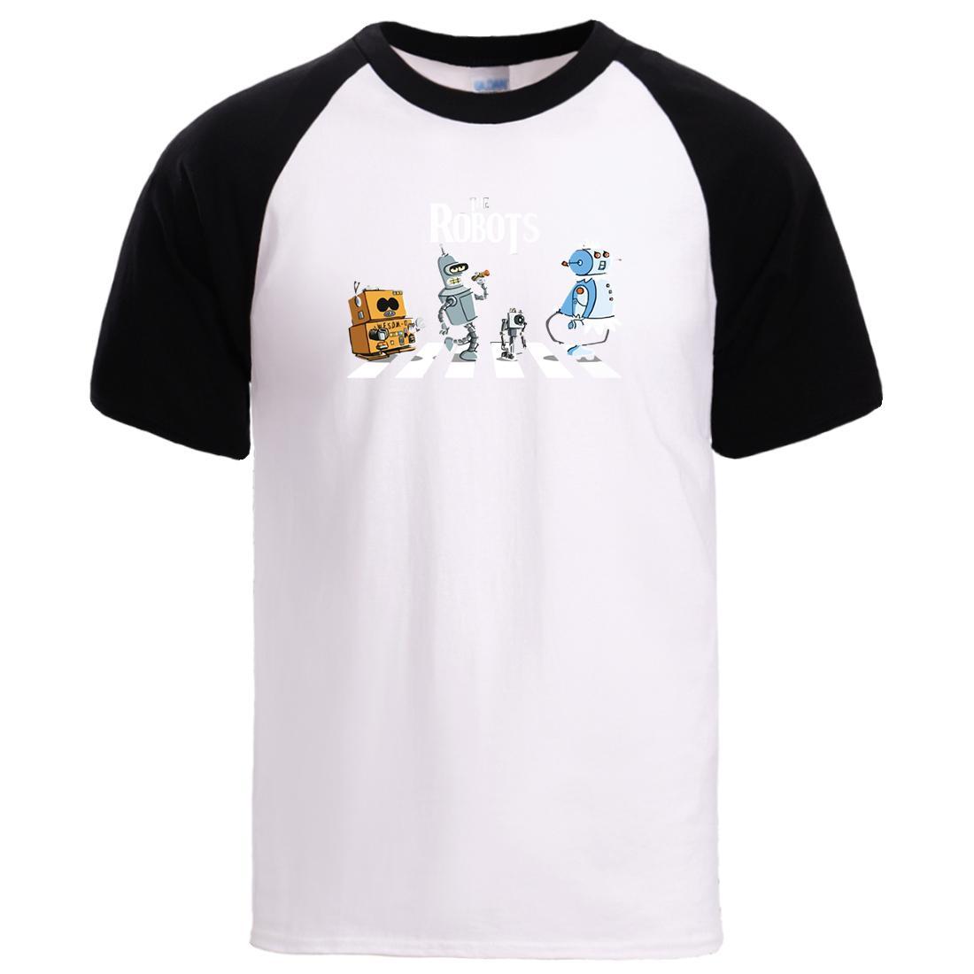 La Stampa Robot manica corta da uomo in cotone magliette Camicie Uomo Estate Raglan T Shirt manica 2020 Man Japan Anime Cartoon Streetwear