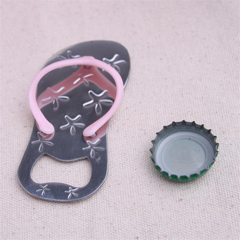 Starfish flip flops Bottle opener Creative Sandals Shoes Beer Bottle Red Wine Openers Slipper Shaped Wedding Favor 100pcs T1I2039