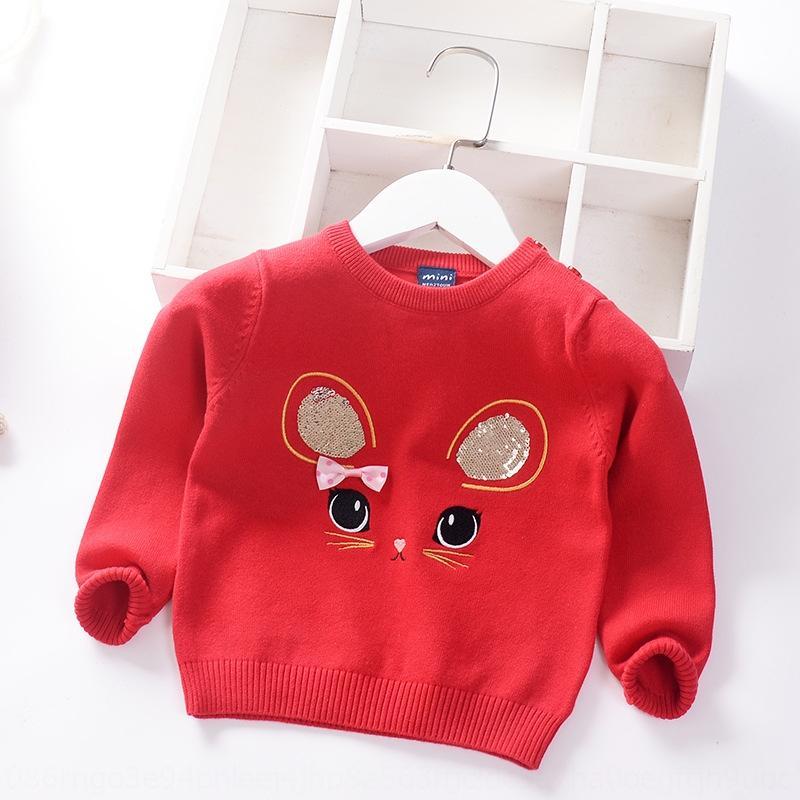 Bebek ve Çocuk tek katlı bebek kazak Swea kazak G02Rz 2020 giyim Kazak Çocuk giyim çocuk Kore tarzı kız pullar