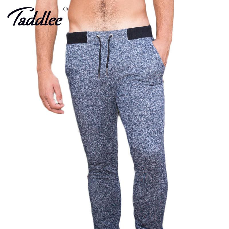 Taddlee Brand Legging Men Gym Sports Running Jogger Skinny Basic Cotton Gray Pants Active Sweatpants Ankle Trousers Bottoms New