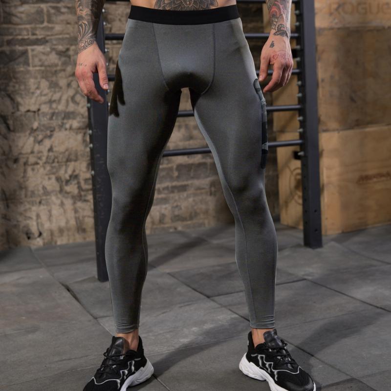 Pantalones para correr Hombres transpirables COMPRESIÓN Quick Dry Sports Fitness Entrenamiento de entrenamiento para jogging Baselayer Leggings Tights 2 Pack