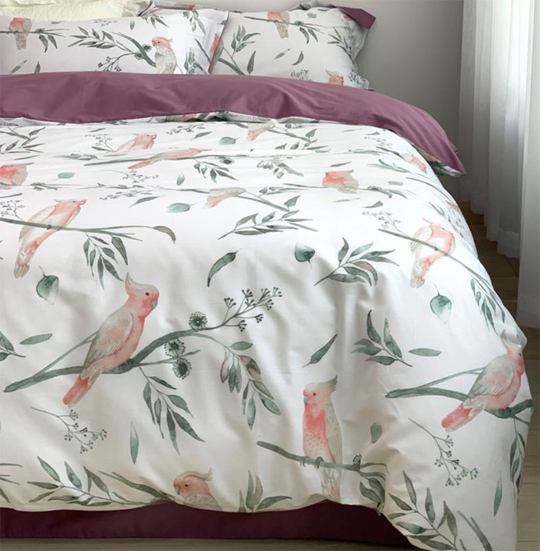 현대 다채로운 침구 세트 대, 전체 퀸 킹면 빈티지 꽃 새 더블 홈 섬유 침대 시트 베개 커버 이불 커버