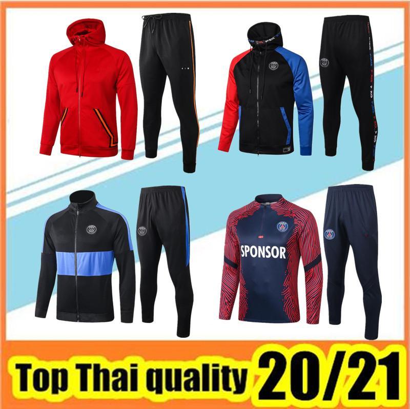 2020 2021 Париж Хаудяд Куртка Выжитие 20 21 Париж MBappe Футбольные Куртки Сцепаны 2021 Air Jordam X Футбольный трексуи