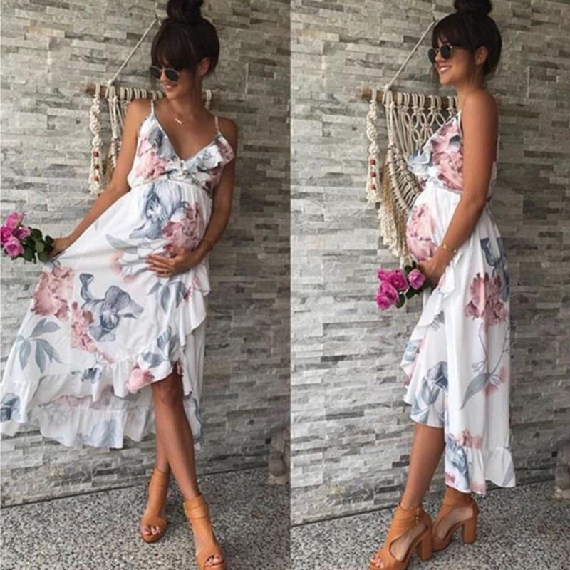 2021 Summer Women Maternity Dresses Pregnant Dresses Maternity Clothes Plus Size Pregnancy Dress Floral Backless Dress Beach Clothes From Yohkoh 20 56 Dhgate Com