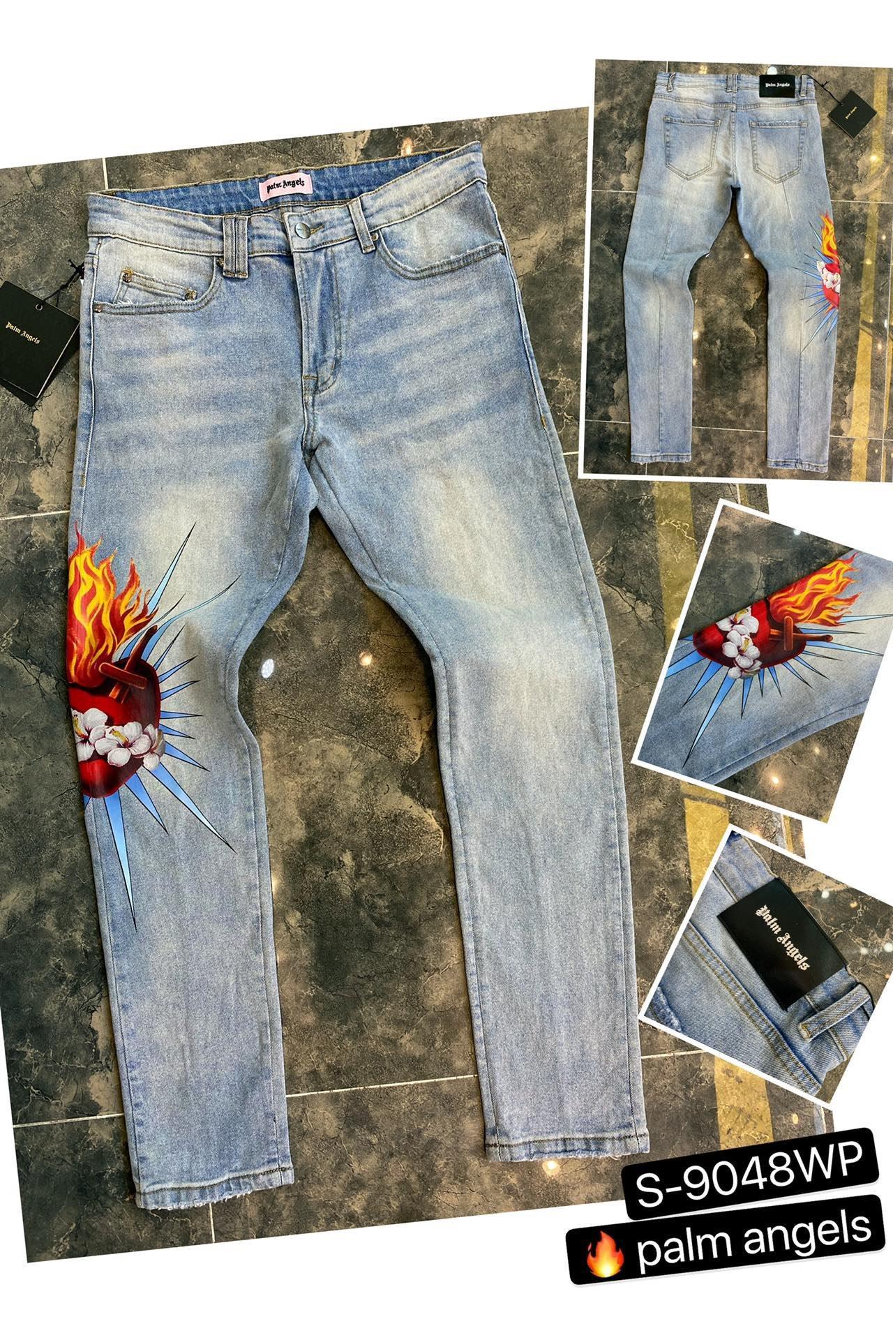 toptan 2020 Yeni Erkek Sıkıntılı Biker Jeans Slim Fit Biker Motosiklet Denim İçin Erkekler Moda Hip Hop Erkek Jeans ~~ AE38 Ripped