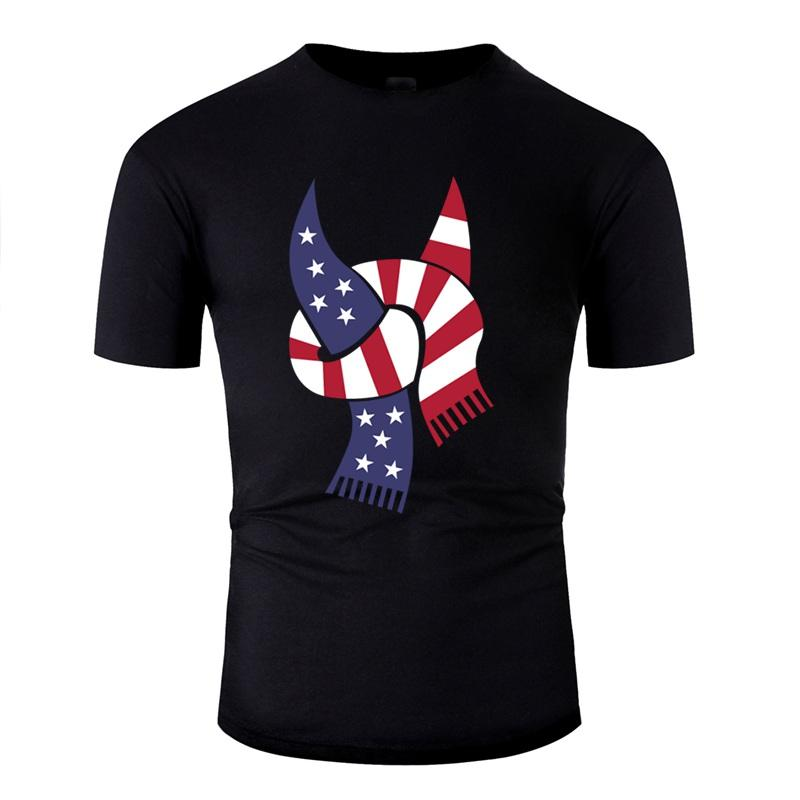 The New Designs T Shirt For Men Humor Graphic Usa Sport Scarf T-Shirts Clothing 2020 Plus Size S-5xl Tee Tops