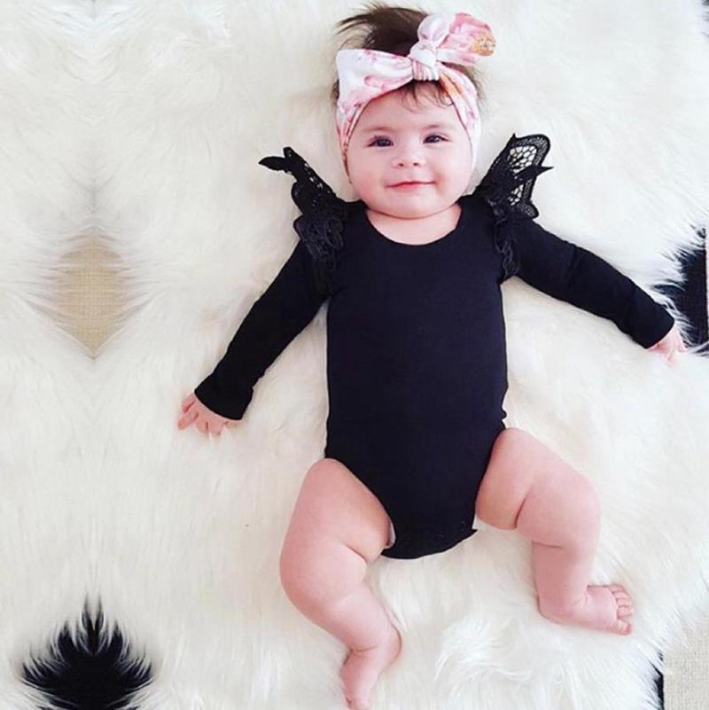 Baby Girl Clothes Lace Ruffle ragazze pagliaccetti a strisce del bambino delle tute maniche lunghe Newborn tutina Designer Abbigliamento bambino 4 stili DW5089