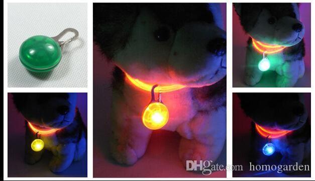 Luminous pendant pet jewelry pendant round pet Nightlight pet collar led dog collar