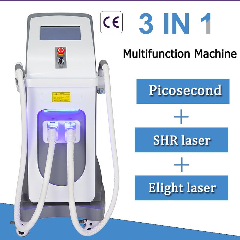 Multi-Functional Picosecond Laser tattoo removal machine Skin care OPT SHR laser hair removal beauty equpment free shipping