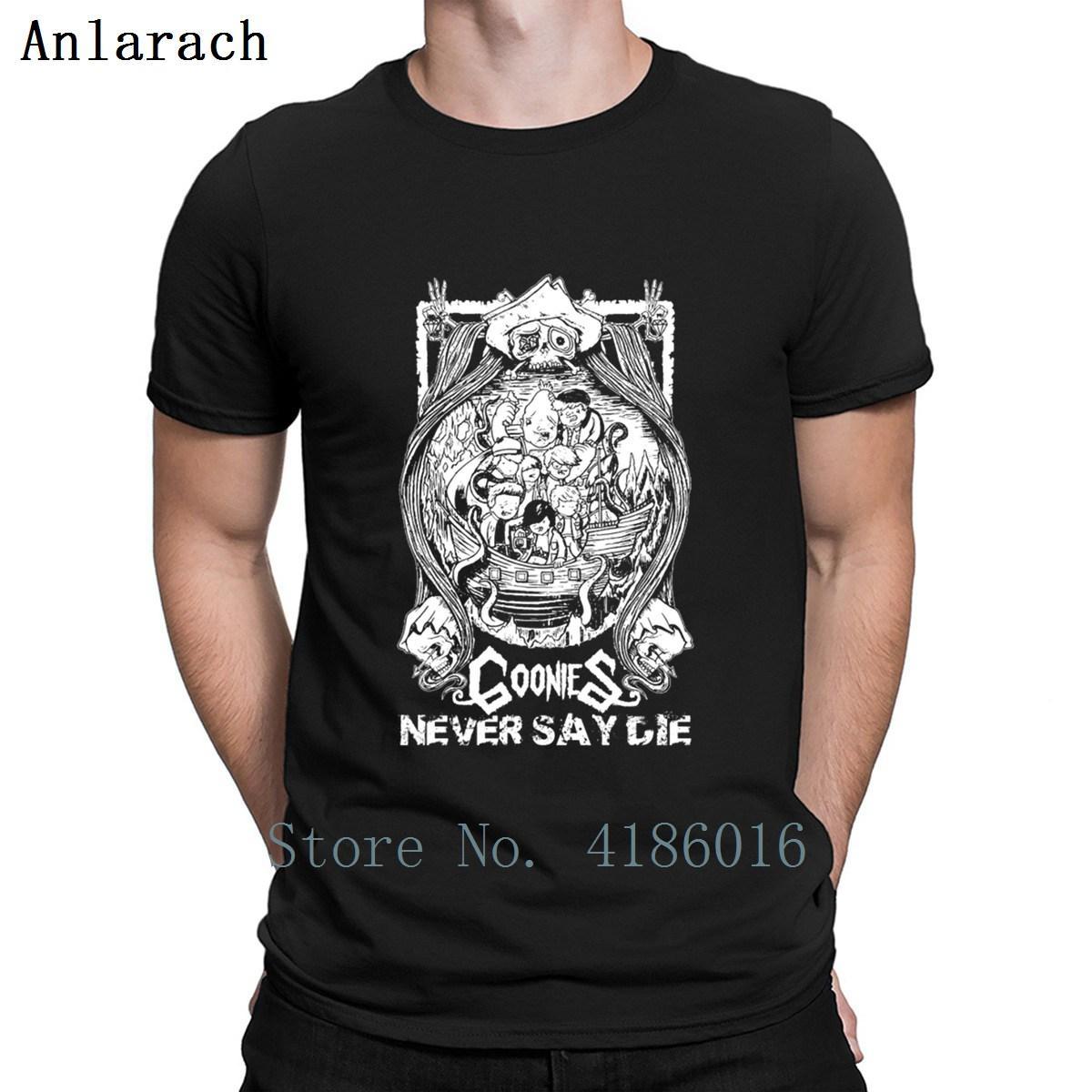 O Goonies Goonies Never Say Die T O Neck camisa legal da novidade verão camisetas engraçado Impresso Camisa bonito