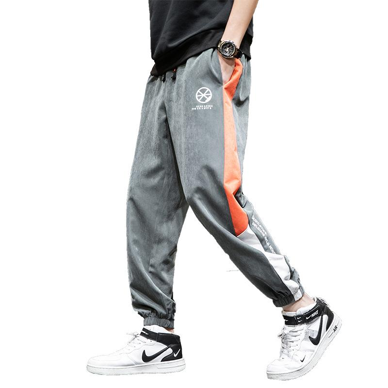 Sweatpants Men's Summer Sports Straight Bib Overall Joggers Hip Hop Track Pants Sweatpants Men Japanese Streetwear