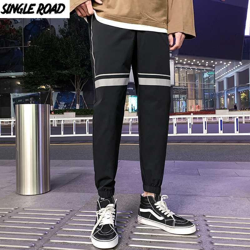 Мужские брюки Singleroad Joggers Men Harem Fashion Японская уличная одежда Черные грузовые брюки мужские штаны мужчина