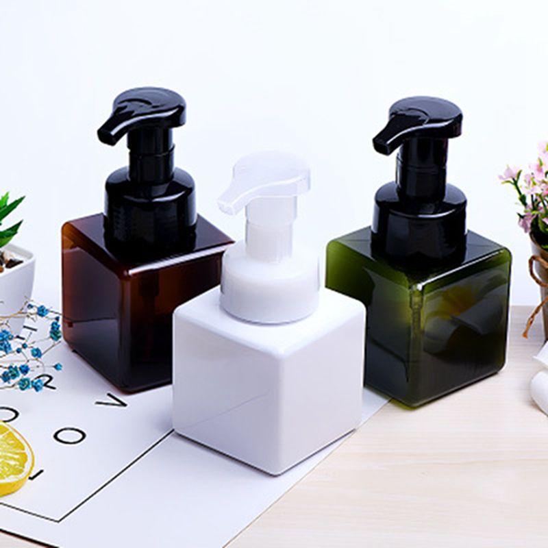 250ml quadrado da mão Soap Dispenser Bomba Bottle Foamer Dispenser Loção Facial Cleanser Shampoo líquido Espuma Containers IIA326