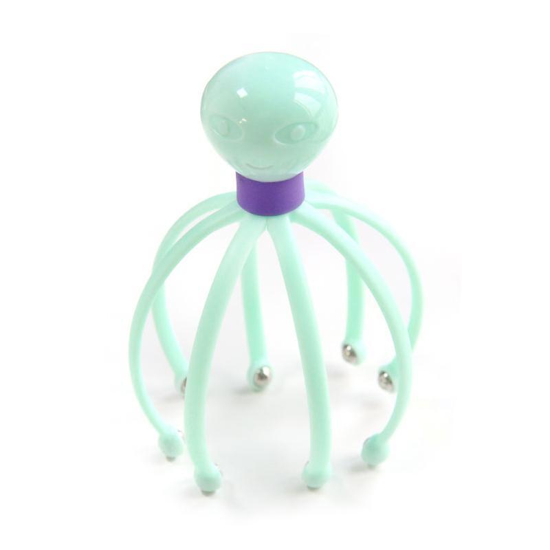 1Pcs Chefe Massager Neck Massage Octopus Scalp Estresse Relax Saúde Spa Cura Alloy Ferramenta Corpo Head Massage ferramenta de beleza
