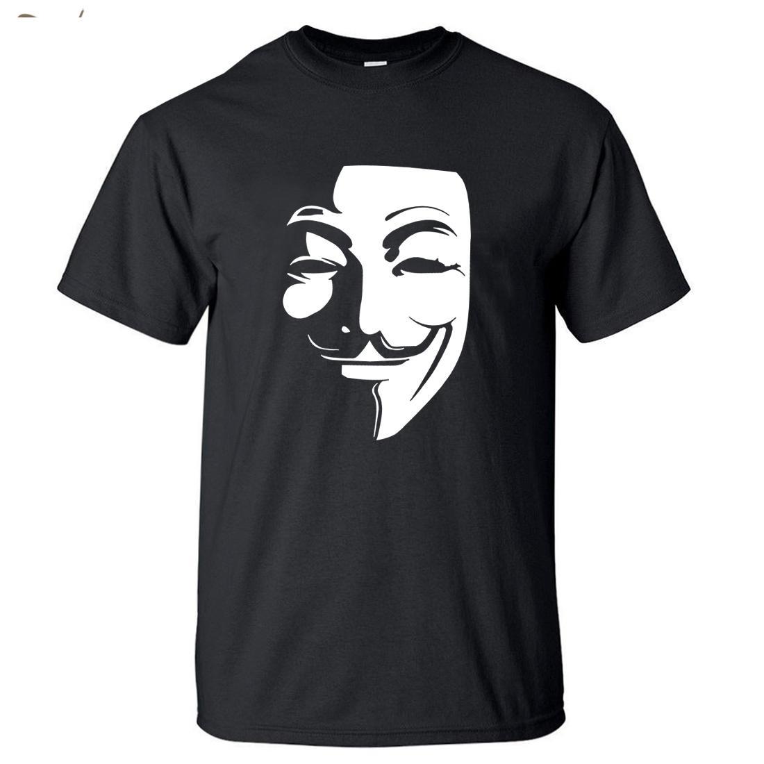 Горячие продажи V Для Vendetta T Shirt Men 2018 персонализированный Hipster Фильм Tshirt Mens круглый воротник O-образным вырезом с коротким рукавом футболки S-5xl