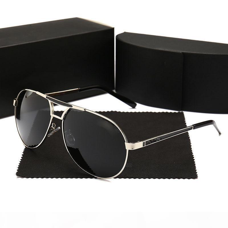 K Lüks Erkekler '; S Güneş Tasarımcı Güneş Altın Çerçeve Kare Metal Çerçeve Retro Stil Açık Tasarım Classicdr35624
