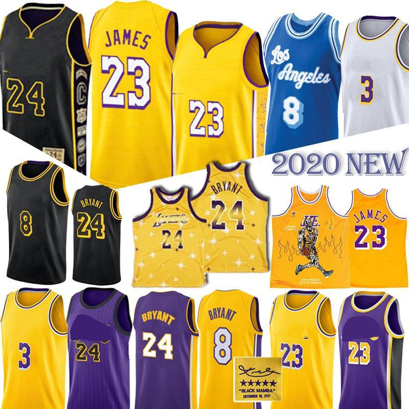ليبرون جيمس 23 كرة السلة الرجعية 2020 NEW NCAA 3 ديفيس ردة التوقيع مامبا الرجال السود + الاطفال جيرسي لكرة السلة