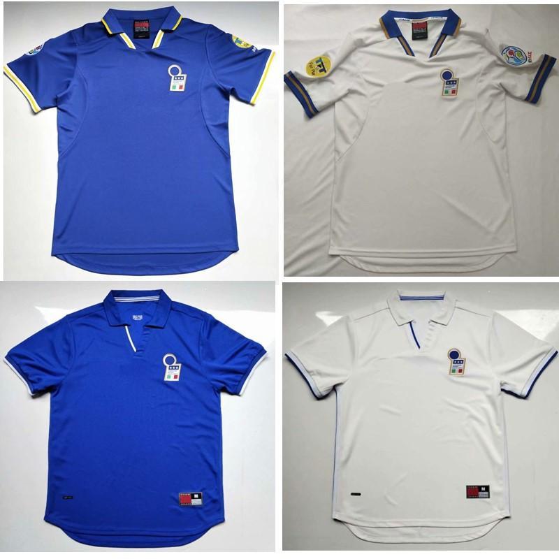 Thai 1998 maillots de football Retro Italie 1996 MALDINI Vieri Maillot de foot BAGGIO R. maillot TOTTI PIRLO DEL PIERO classique maillot de pied