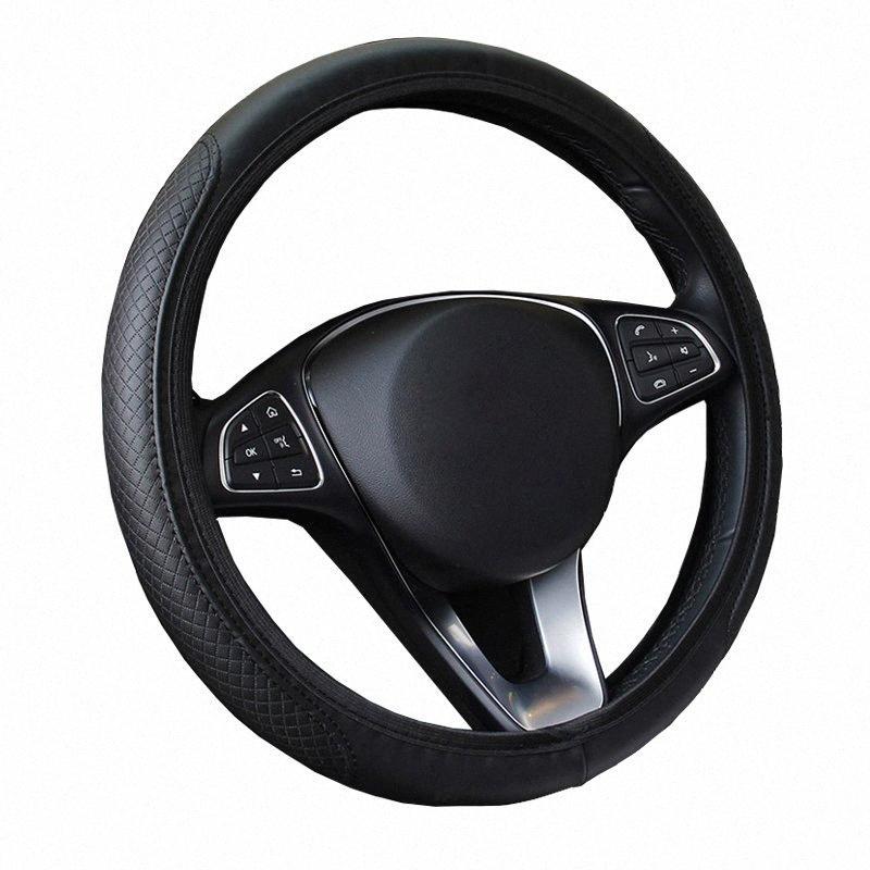 PU-Leder ohne Innenring Auto-Auto-Lenkrad-Abdeckung für 37 38 CM 14,5 15 Anti Slip M Größe Auto-Zubehör Styling Qh1z #