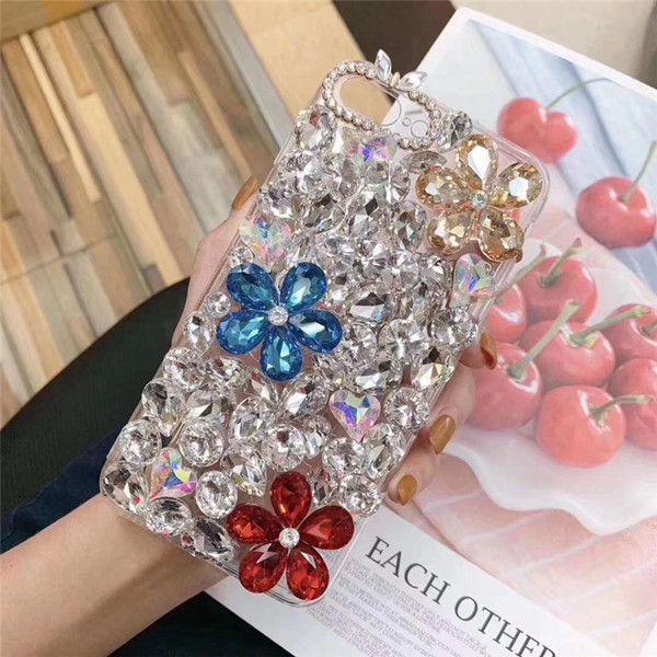 Hand made crystal Rhinestone Flowers designer phone cases samsung galaxy s20 case samsung galaxy s20 plus case samsung galaxy s20 ultra case