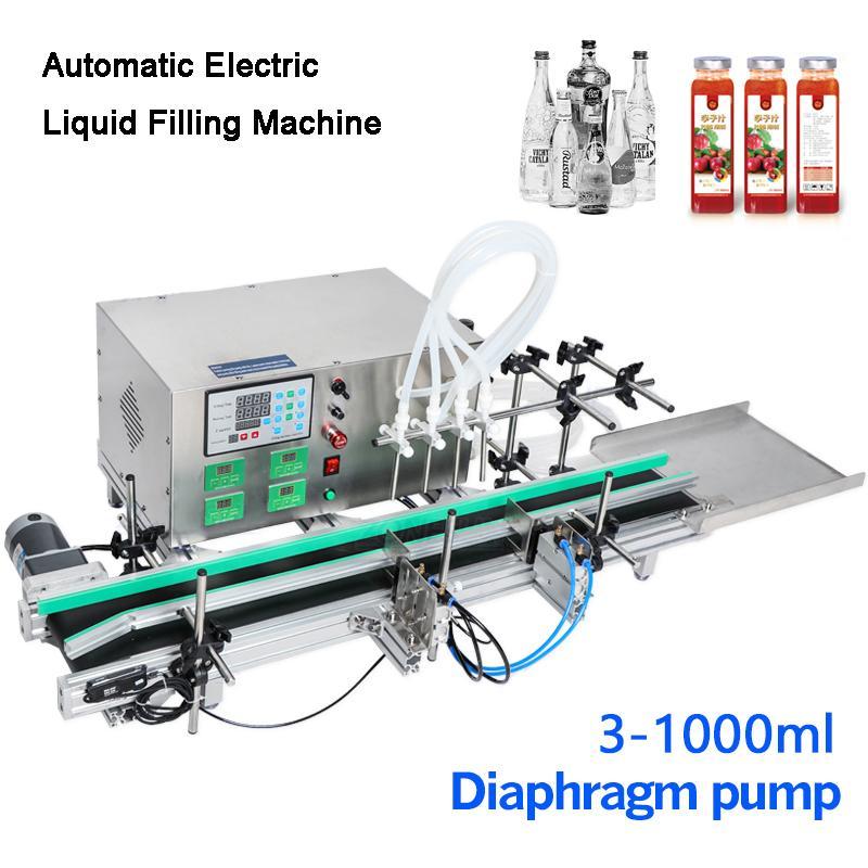 Completa automática desktop CNC líquido máquina de enchimento Com transportador para Bottle Perfume Máquina de enchimento de água que faz máquinas