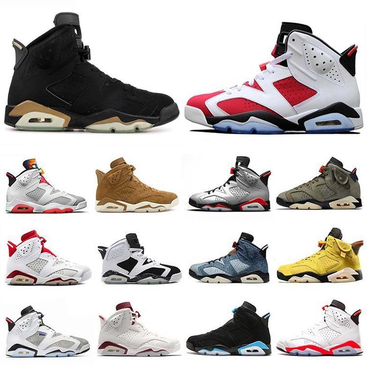 Nuevos 6 6s zapatos de baloncesto de Jumpman DMP Oregon patos blancos Hare Travis Scotts Negro infrarrojos UNC para hombre zapatillas de deporte los Con caja