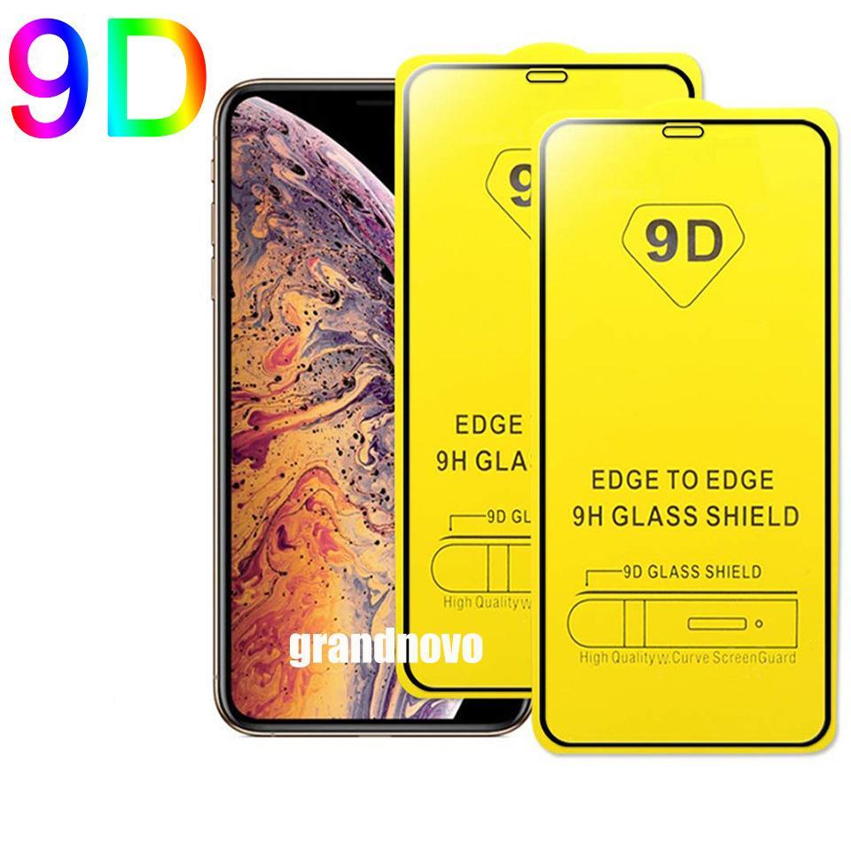 Tela 9D tampa Completo em cola de vidro temperado curvada Guarda filme protetor Para Huawei P40 Lite E P30 mate 30 20 Smart P S Y5P Y6P Y7P Y8P