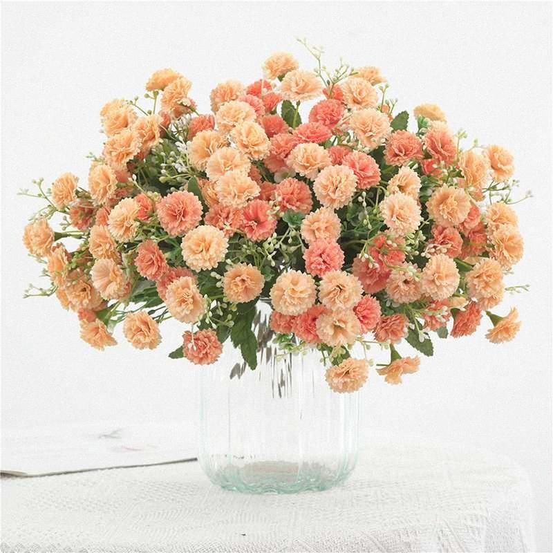Silk Início da festa de casamento flor decoração de alta qualidade europeia Artificial Flor Hydrangea Bouquet Simulação Decoração S4o9 #