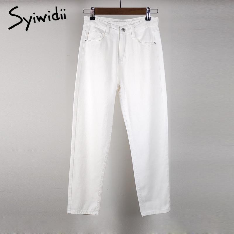mom jeans woman plus size denim pants high waist boyfriend jeans for women Vintage Washed Harem Pants white black pencil jeans CX200721