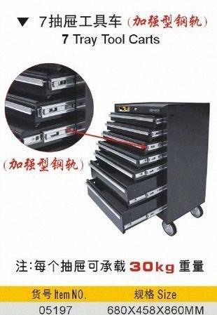 Воспрянут тайвань сделал превосходное качество холодной снижается пластина strenghthened стальной рельс 7-ящика инструмент тележки тележки NO.05197 JvxE #