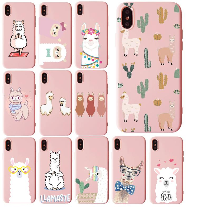 Adorável Lama Lama Alpacas macio TPU silicone móveis Phone Cases para iPhone 11 11Pro X XS XR Max 6 6s mais 7 8 Plus X 5 5S Cases