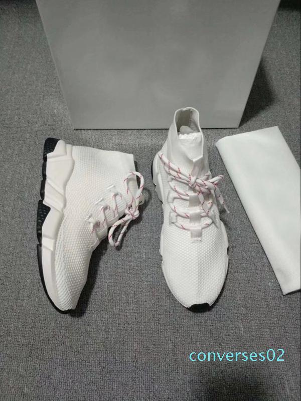 Lüks Çorap Hız Eğitmenler Stretch Dokulu ÖRGÜ Siyah Casual Ayakkabı Hız Eğitmen Sneakers Hız Eğitmen Çorap yarışı Koşucular Toptan CO02
