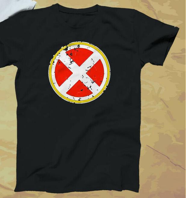 Vintage !! X-Men Logo Marv Comics Schwarz-Weiß T-Shirt S-5xl 100% Kleidung T-Shirts Marken-Baumwolloberseiten-Stück-einfache Art