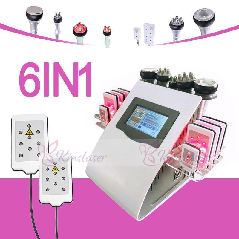 Nuovo 6 IN 1 Uniosetion dimagrante cavitazione RF vuoto freddo Photon Micro attuale Lipo Laser dimagrante macchina per uso del salone