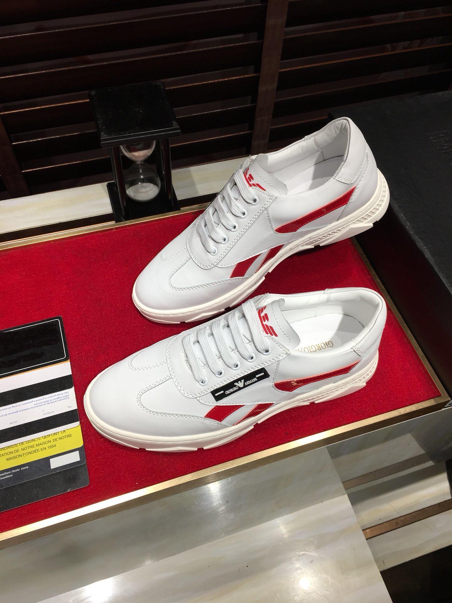 marque de marée 2020-2019i personnalisés chaussures de sport pour hommes en cuir, chaussures de sport sauvage de la mode, boîte à chaussures d'emballage d'origine, taille: 38-44
