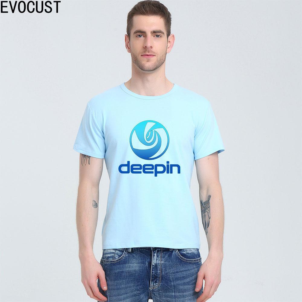 Deepin Linux-T-Shirt Top Lycra Baumwolle Männer T-Shirt